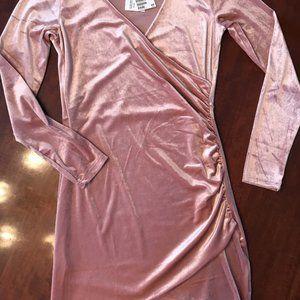 Divided by H&M Rose Velvet Cocktail Dress - size 8